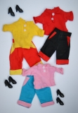 Fleur outfit doll three variations of Bermuda doll, 3 complete outfits