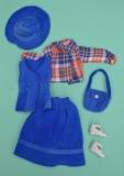 Fleur outfit 1221, with check shirt, seam in shirt has a repair