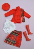 Fleur outfit 1244, Scottish, with hat, scarf and boots
