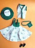fleur outfit 1240 green and white summer dress, loose