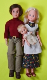 Sunshine Family dolls mom, dad and baby