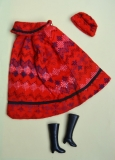 Barbie clone clothes outfit Petite red poncho
