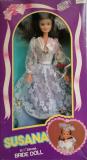Barbie clone doll 1980s Susana boxed Bride blue