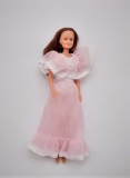 Barbie clone doll 1980s Susana pink evening dress 1