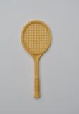 Dusty tennis racket.