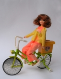 Cheri Yukko-Chan bicycle doll Tomy Takara (1973)