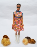 Barbie clone doll Fashion Queen with wigs