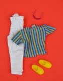 Jem Rio Fashion Rappin white trousers, yellow shoes