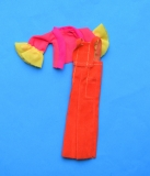 pippa size Rockflowers outfit Overall Orange