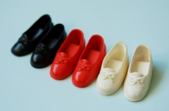 Sindy shoes lot blue black, red and white bow shoes