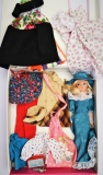 Sindy case with dolls and clothes A
