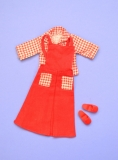 Sindy outfit 1980 Gingham Girl, red clogs