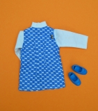 Sindy outfit 1973 Spring Date, with blue bow shoes