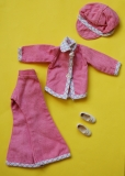 Sindy outfit 1975 Smarty Denims, with white bow shoes