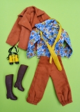 Sindy outfit 1977 Country Set with boots, complete