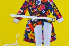 Barbie outfit 1973 #3347 flowered mini dress with belt and socks