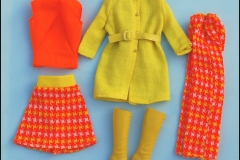 Barbie outfit 1974 #8197 European Exclusive Dressed warm or Prime Pioggie European Exclusive