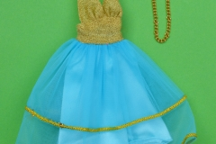 Barbie outfit 1976 #9582 halter dress with necklace