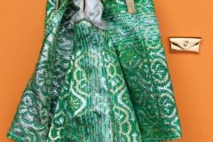 Barbie outfit 1976 #9469 Elegance Green Brocade